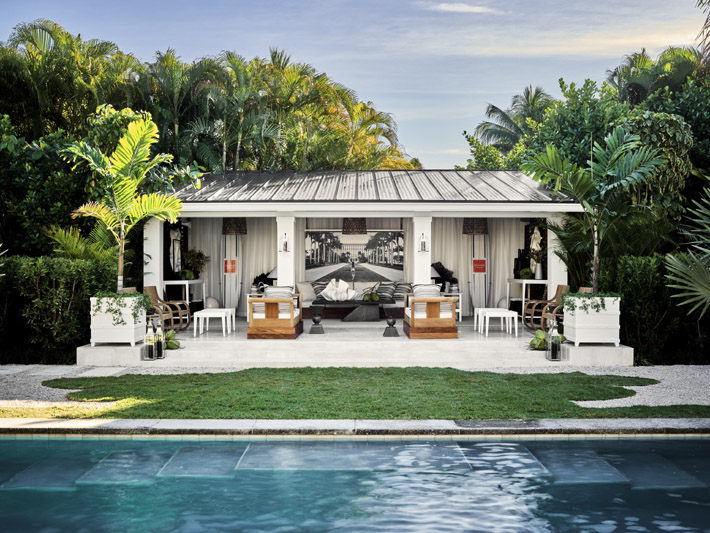 Pool Pavilion design by Jonathan Savage​ at kips bay palm beach show house