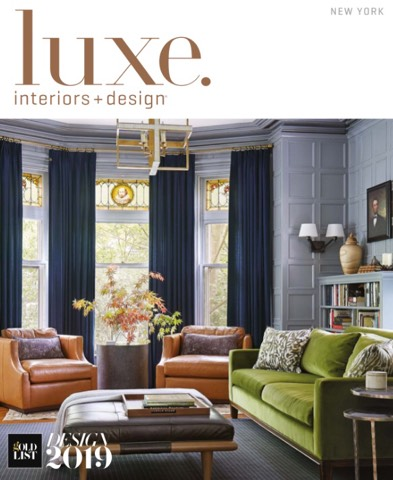 Cover of Luxe Interiors + Design featuring a project by A Design Partnership client Uma Stewart