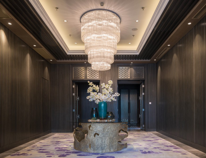 Sky Mansion Residential Club House Lobby in Zhengzhou, China designed by atwater inc.