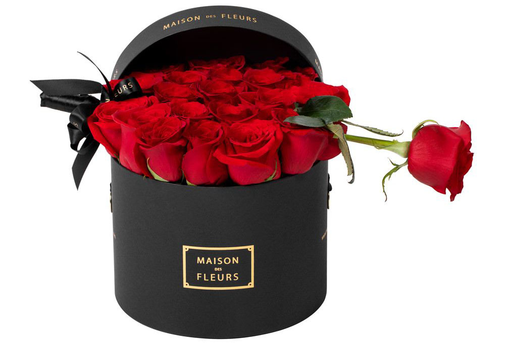 maison des fleurs bouquet of red roses - valentine's day gift ideas