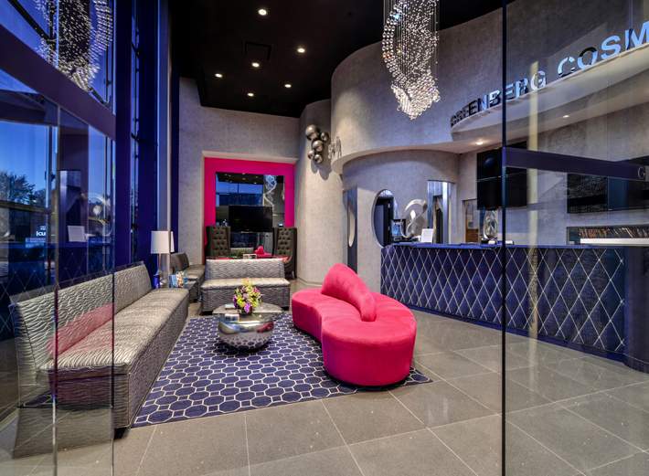greenberg cosmetic reception area designed by keith baltimore
