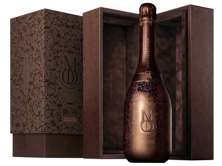 valentines day gift guide - fancy bottle of champagne by MOD