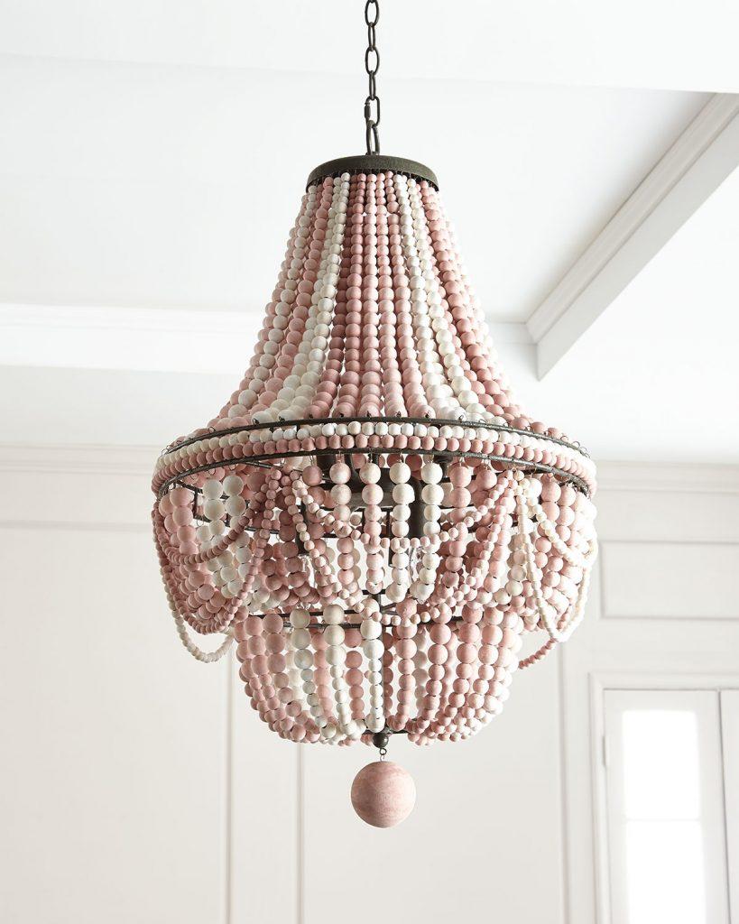 Pink Malibu Chandelier Regina Andrew - pink lighting