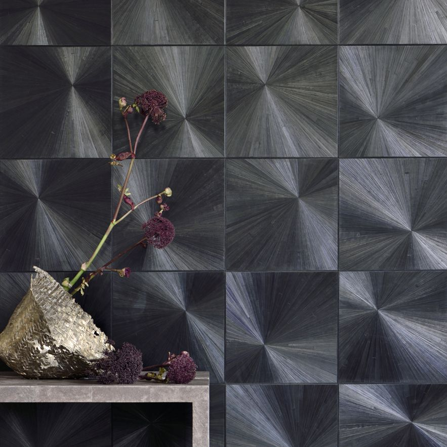Straw Marquetry Wallcovering by Alexander Lamont