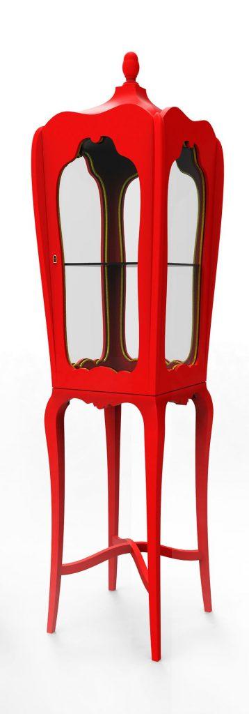 red Palatino Cabinet by Boca do Lobo