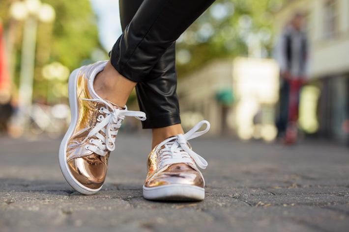 gold designer sneakers - what your shoes say about your personality