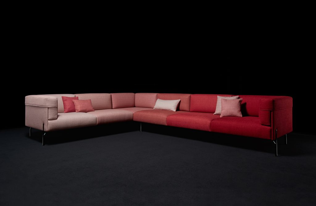 pink and red sofa by fendi-casa-six-shades-of-palmer-installation