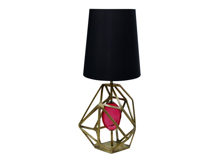 Gem Table Lamp in Pink by KOKET - pink lighting