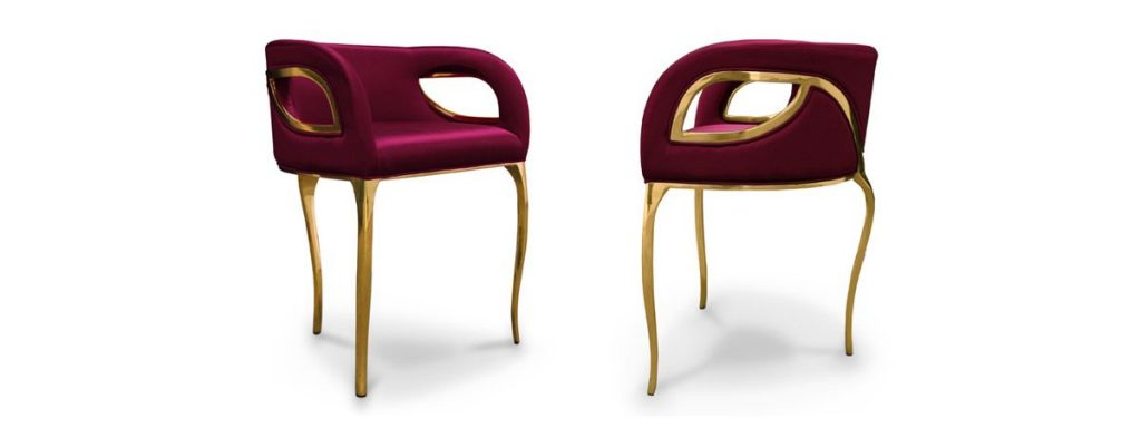 Chandra Chair by KOKET pink furniture