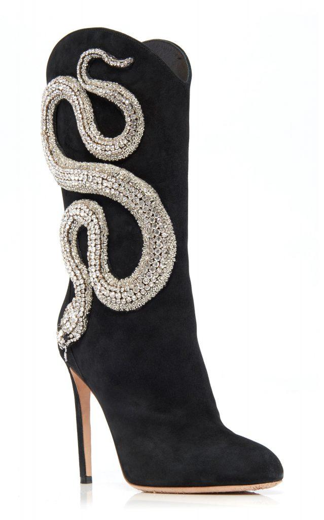 Giambattista Valli Crystal Snake Boots