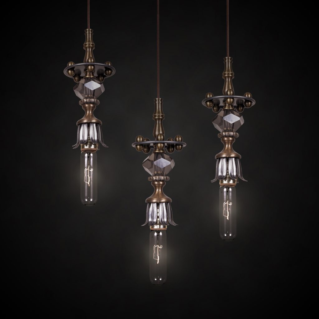 luna bella rain drop pendant lights - unique luxury lighting brands to know