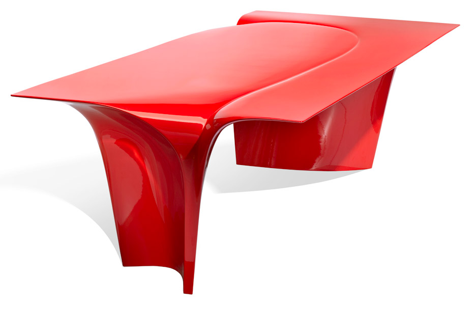 Mew Table by Zaha Hadid for Sawaya Moroni - red dining table