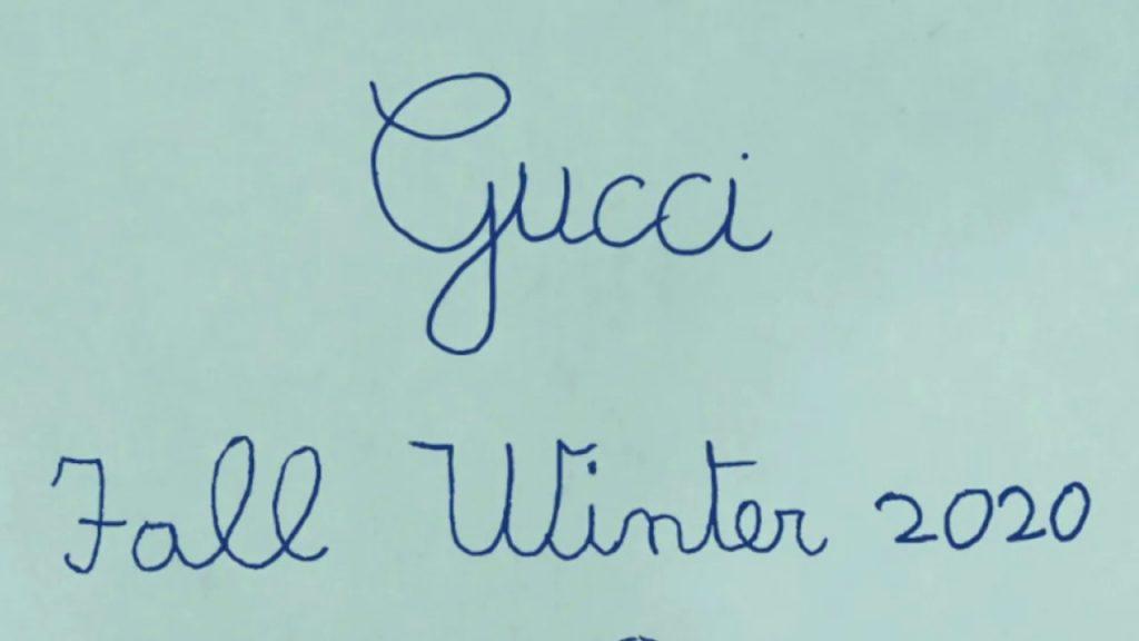 gucci fall winter 2020 logo