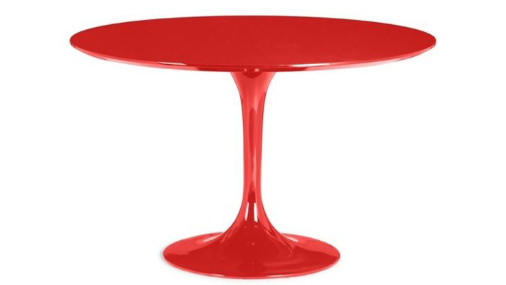 red tulip dining table - red furniture