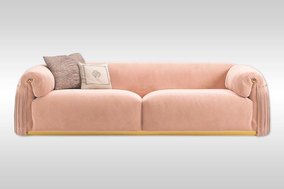 Sofa by Roberto Cavalli - pink furniture