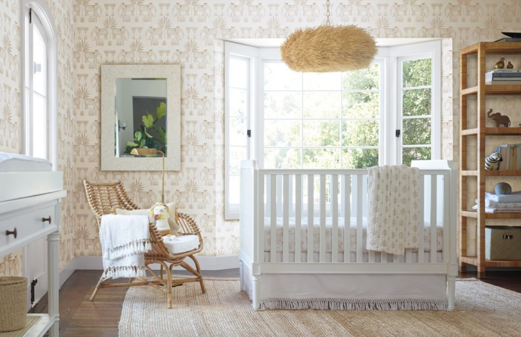 chic neutral nursery with Furniture by Serena & Lily