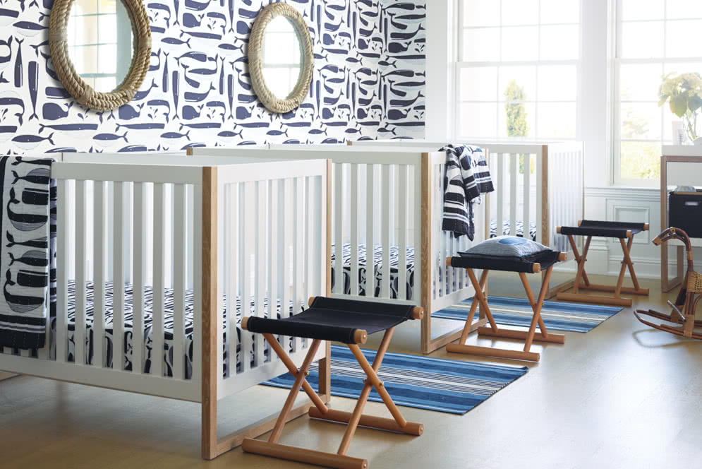 blue and white nursery by serena & lily