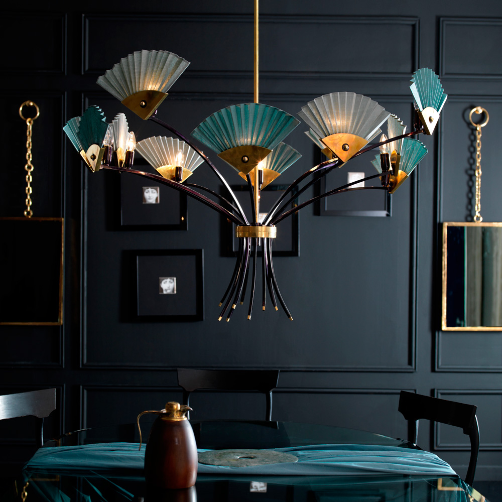 Sigma L2 Chandelier designed by Simone Granchi - unique luxury lighting brands to know