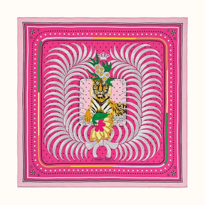 valentines day gift guide - Tigre Royal Fleuri Scarf from HERMÈS