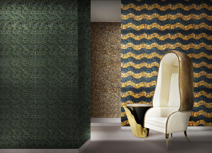 Feather Wallcoverings by KOKET