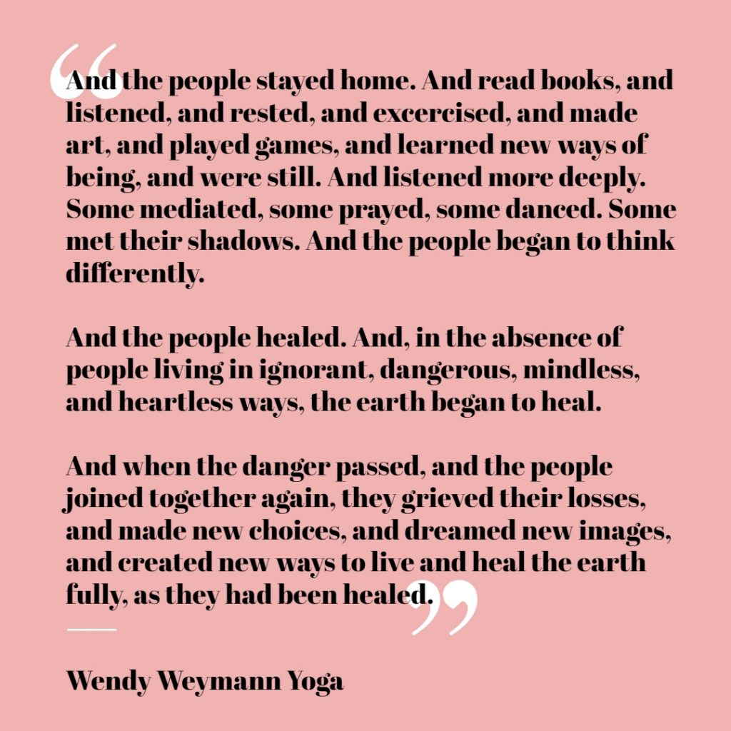 uplifting quote by wendy weymann yoga