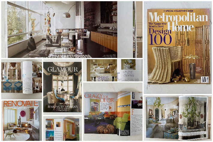 Stories and covers produced by Linda O'Keeffe during her time as creative director for Metropolitan Home
