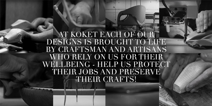 koket in support of handmade furniture craftsman during coronavirus pandemic