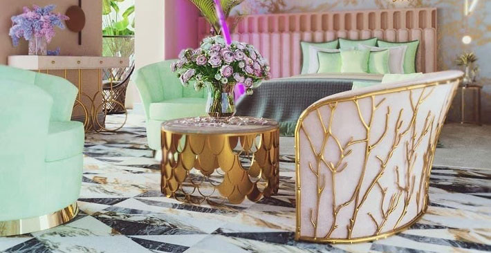 bring the outdoors in - spring decorating ideas - enchanted sofa by koket - nature inspired furniture