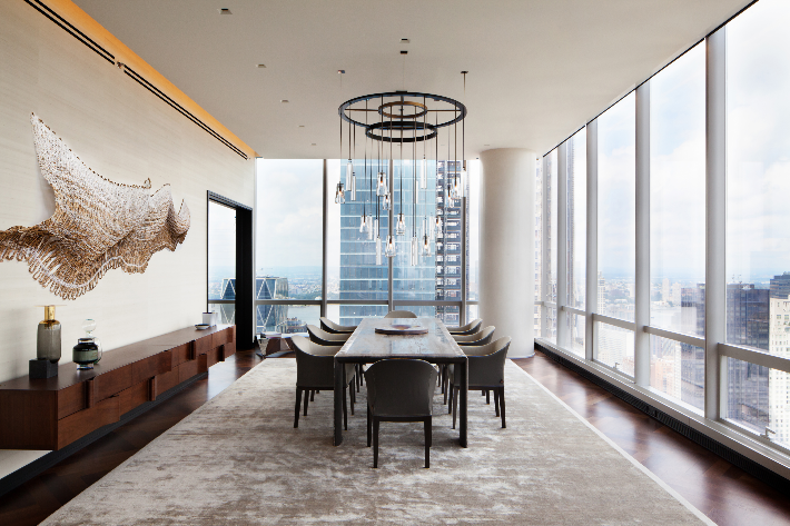 Jasmine Lam Interior Design Manhattan One 57 Project (Photo by Adam Kane Macchia)