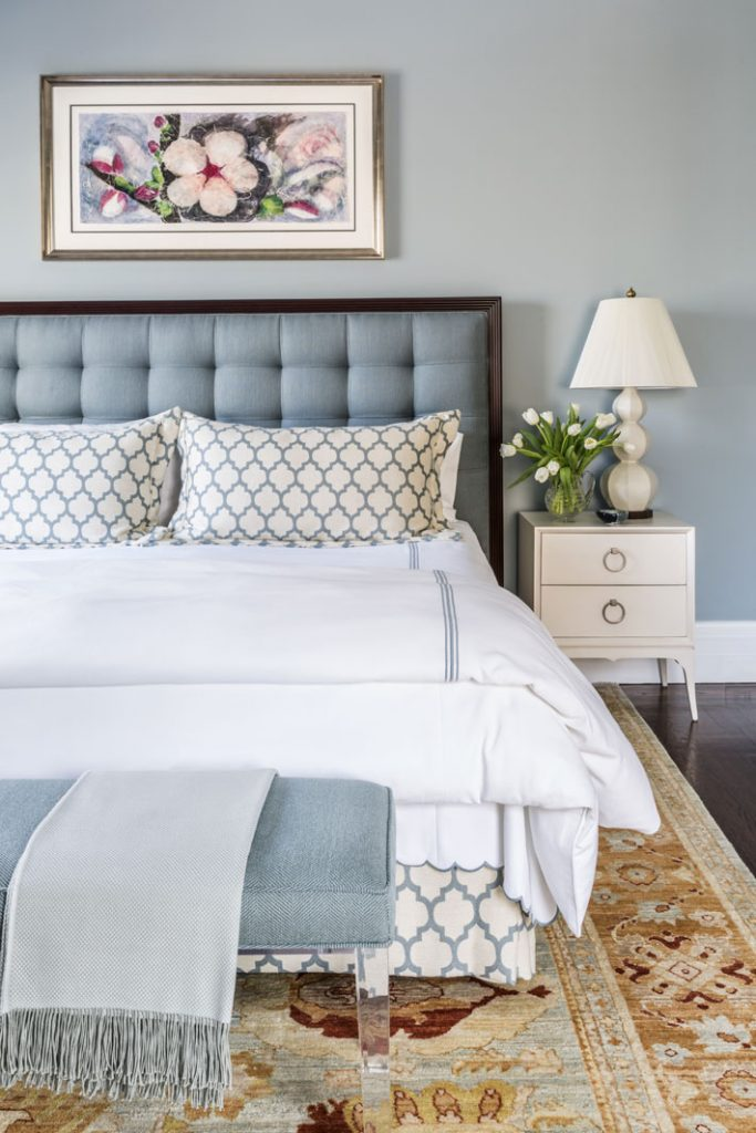 blue and white bedroom by trudy  dujardin design