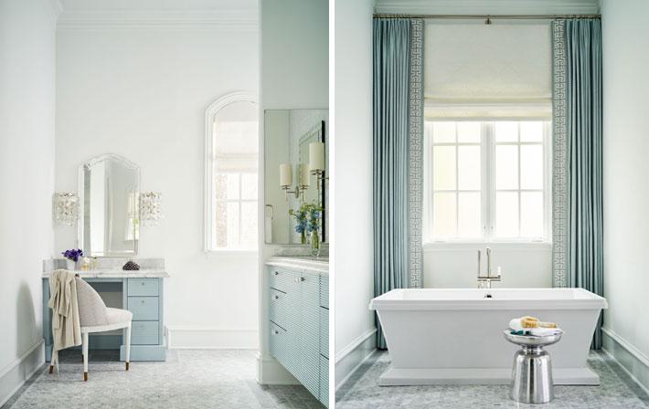 blue and white bathroom design by denise mcgaha