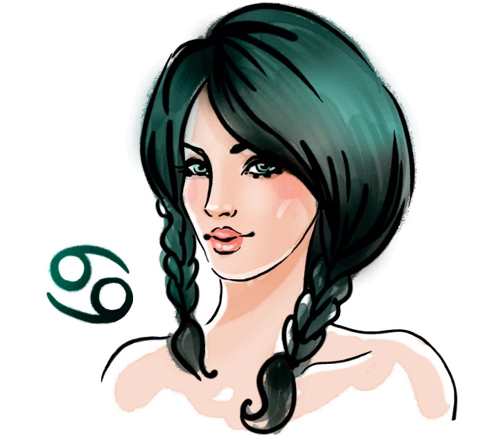illustration of a woman representing cancer zodiac sign for cancer january Horoscope 2021