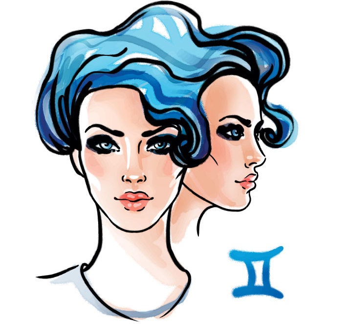 illustration of a woman representing gemini zodiac sign for gemini may Horoscope 2020