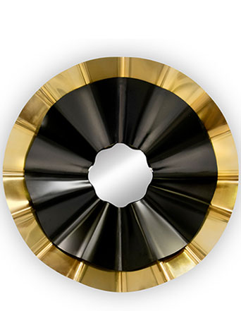 KOKET reve mirror black and gold