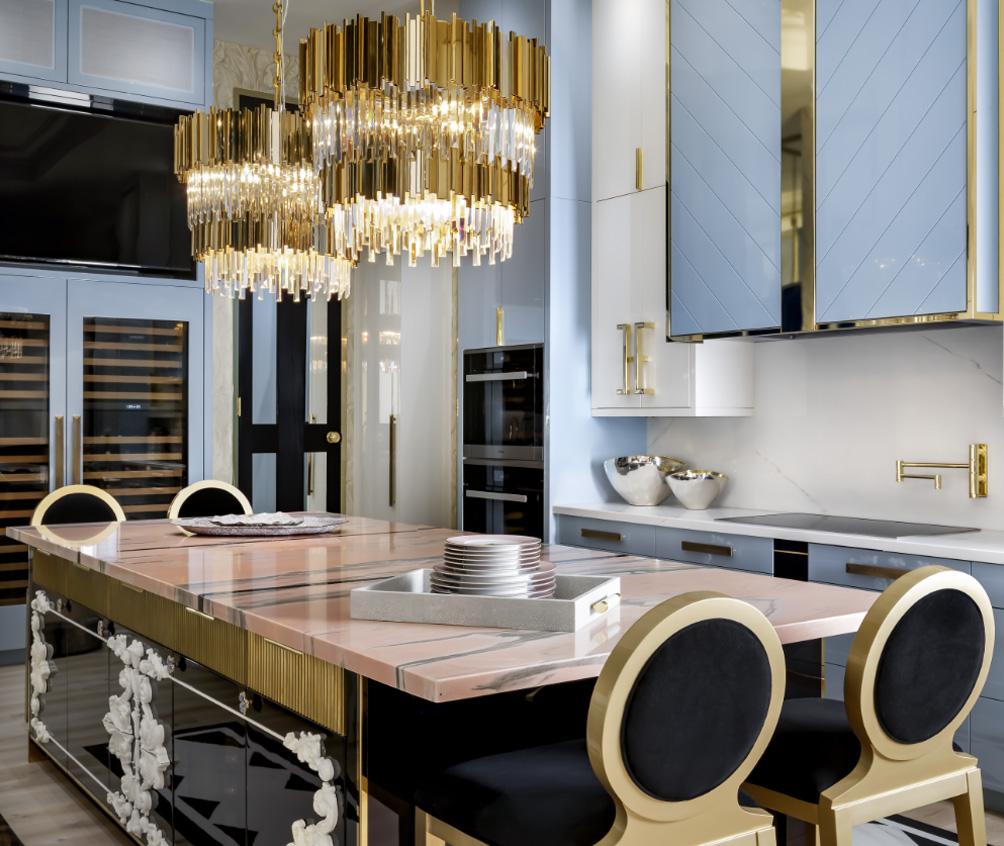 blue kitchen Interior design by Lori Morris
