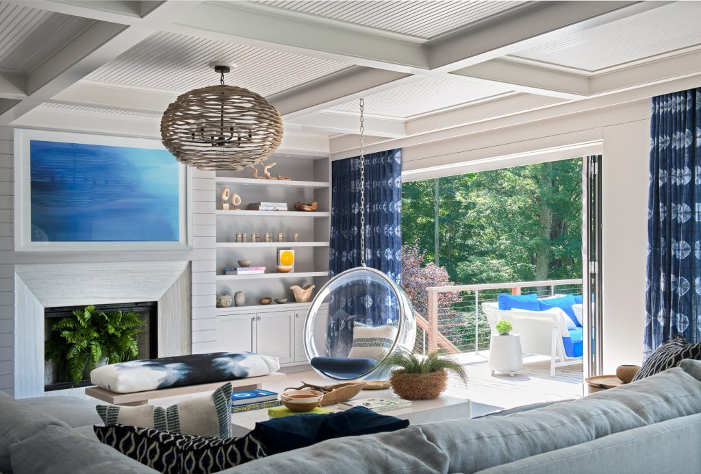 D2 Interieurs blue and white living room - ©Jane Beiles