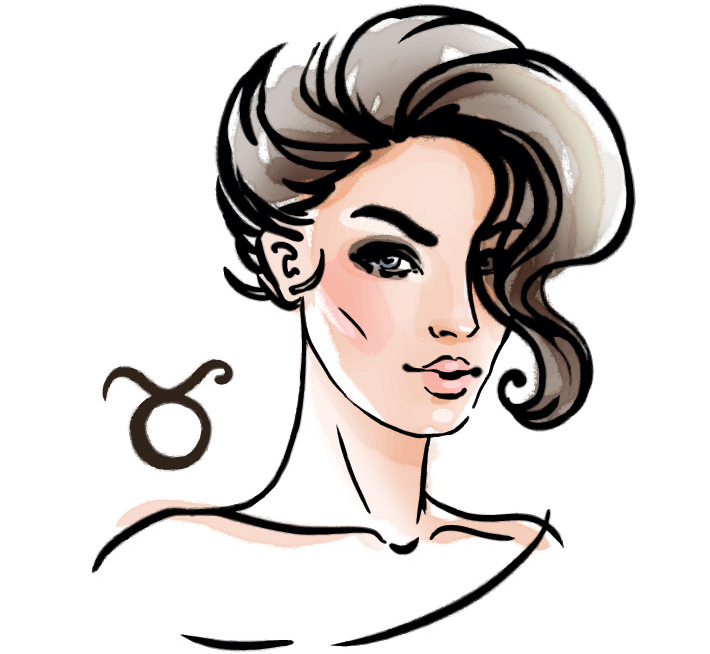illustration of a woman representing taurus zodiac sign for taurus may Horoscope 2020