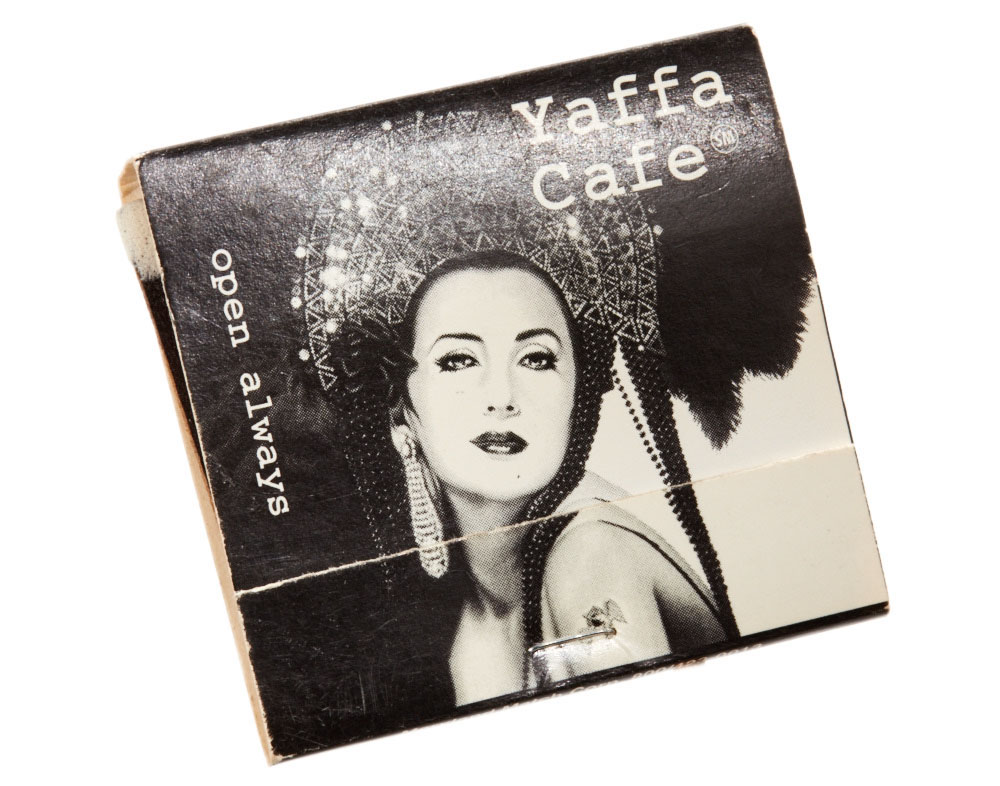yaffa cafe matchbook photograph by shana novak