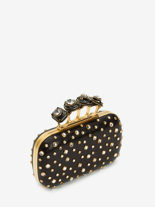 Spider Jewelled Four Ring Box Clutch from Alexander McQueen