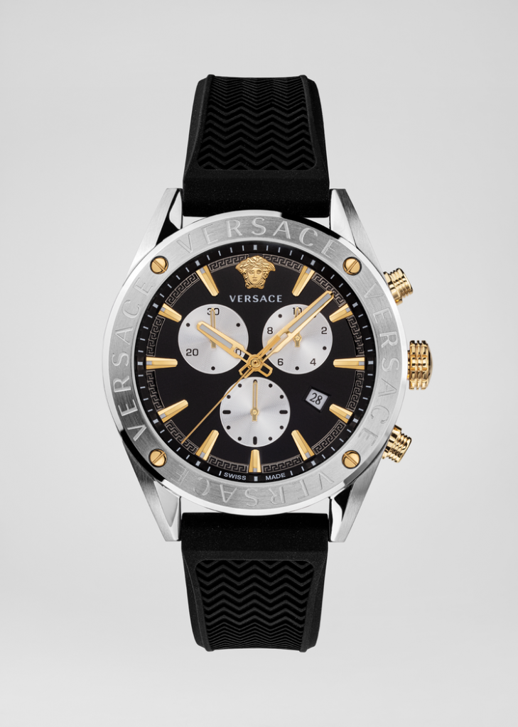 Black V-Chrono Watch from Versace - unusual father's day gifts