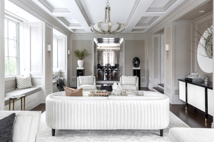 large white living room design by carlyle designs