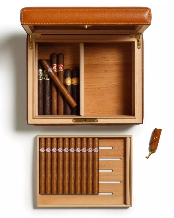 Partido No.214 Leather Cigar Case Humidor by Ghurka - unusual Father's Day gifts