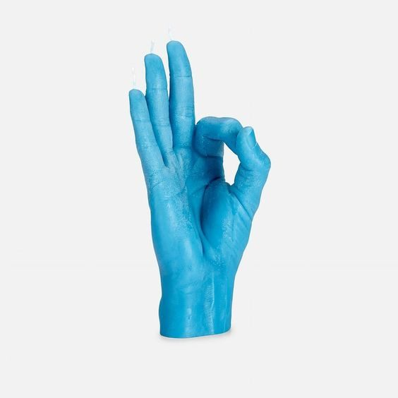 OK Hand Gesture Candle from Yad Cheri