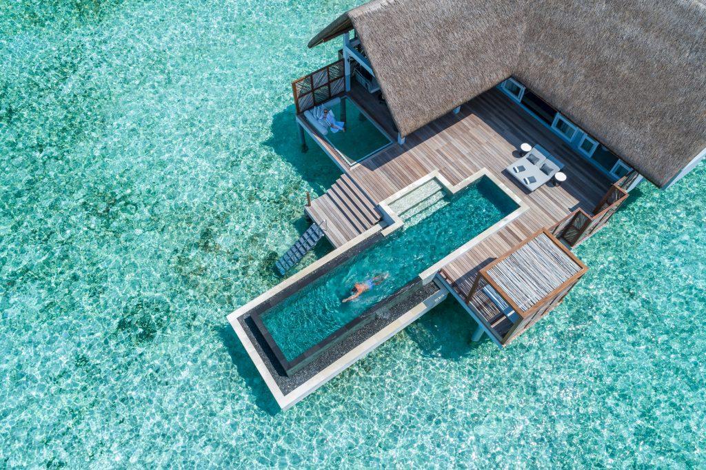 Water villa with a pool at the Four Seasons Resort Maldives at Landaa Giraavaru