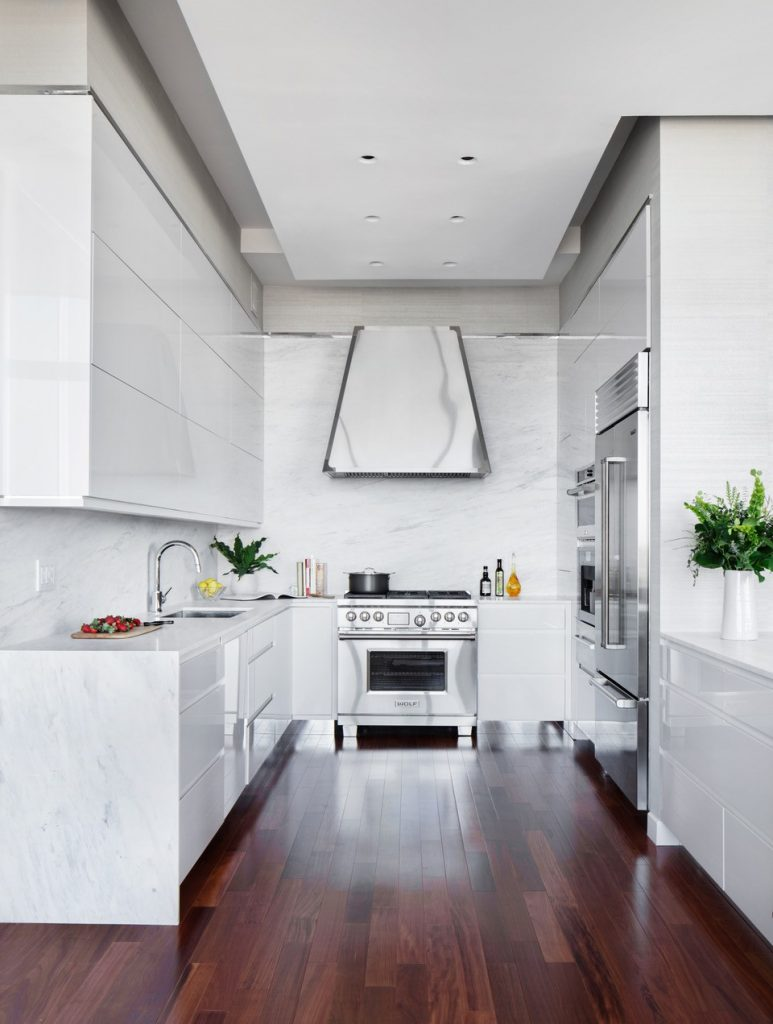white kitchen design by nd interiors and Studio Dearborn