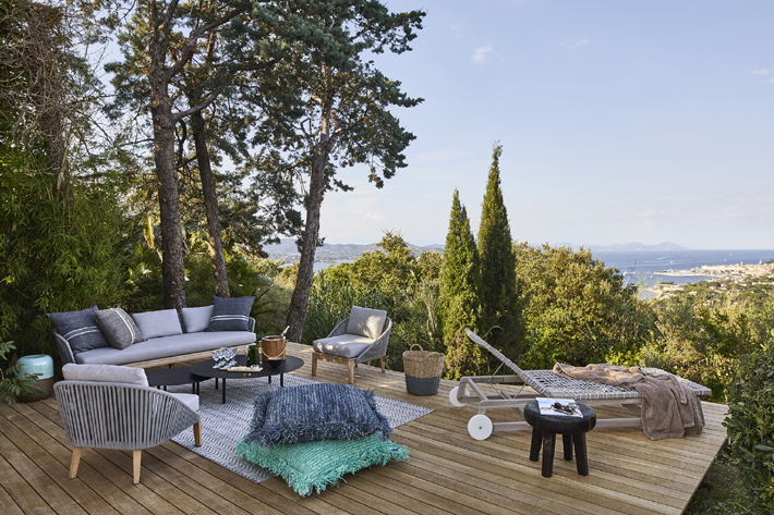 outdoor patio design in saint tropez by stephanie coutas