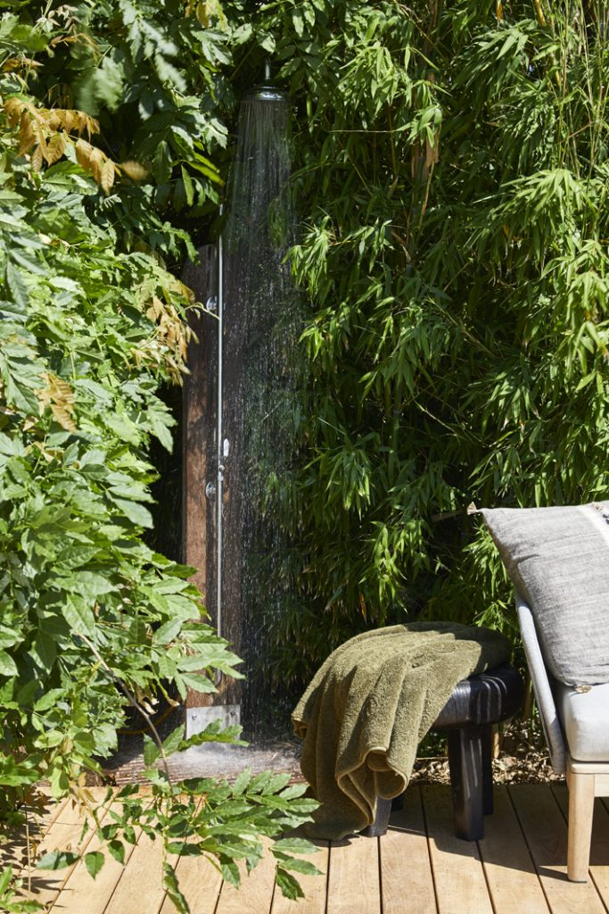 outdoor shower design by stephanie coutas