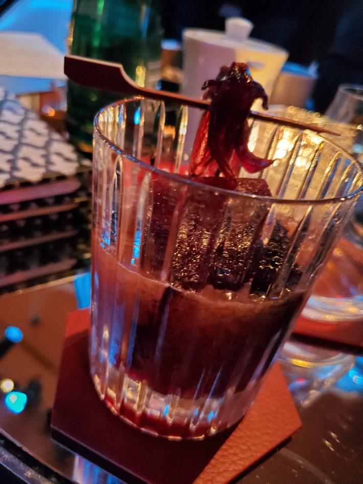 Baccarat Rouge Premium Cocktail at the bar nyc