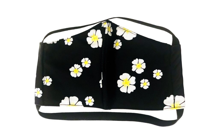 Face Mask Black Floral Print with Filter by Tabacaru Swim