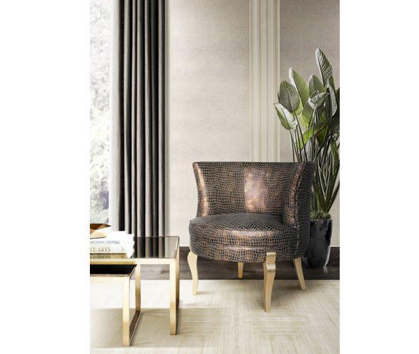 deliciosa chair koket snakeskin upholstery